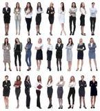 Collage de femme d'affaires moderne réussie D'isolement sur le blanc image stock