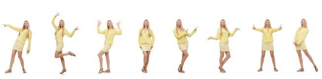Collage de femme d'isolement sur le blanc Photo libre de droits