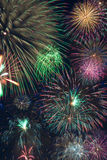 Collage de feux d'artifice Photo stock