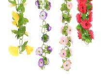 Collage de flores artificiales. Imágenes de archivo libres de regalías