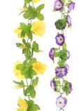 Collage de flores artificiales. Fotos de archivo libres de regalías