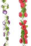 Collage de flores artificiales. Imagenes de archivo
