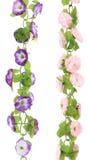 Collage de flores artificiales. Cierre para arriba. Fotos de archivo