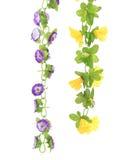 Collage de flores artificiales. Cierre para arriba. Fotos de archivo libres de regalías