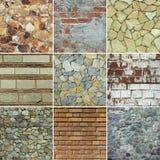 Collage de fond de mur Photos stock