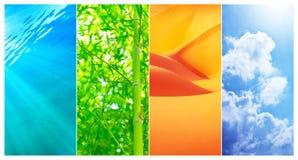 Collage de fonds naturels Images libres de droits