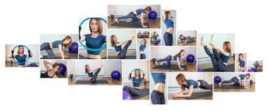 Collage de forme physique Photographie stock