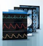 Collage de fotos médicas Foto de archivo libre de regalías