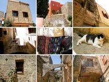 Collage de fotos de Rodas, ciudad vieja imagen de archivo libre de regalías