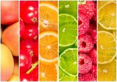 Collage de fruit frais d'été Photos stock