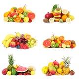 Collage de fruit sur le fond blanc Image libre de droits