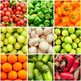 Collage de fruits et légumes Image libre de droits