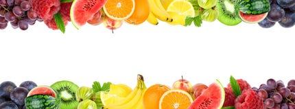 Collage de frutas mezcladas Frutas frescas del color stock de ilustración