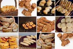 Collage de galletas y de galletas imagen de archivo