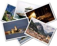 Collage de Garda del lago Imagenes de archivo