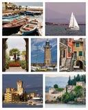 Collage de Garda del lago fotografía de archivo libre de regalías