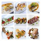 Collage de gastronomie photographie stock