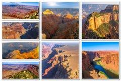 Collage de Grand Canyon Imagen de archivo