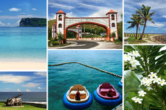 Collage de Guam Foto de archivo libre de regalías
