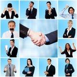 Collage de hombres de negocios y de mujeres elegantes imagen de archivo libre de regalías