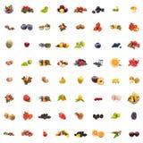 Frutas del collage fotografía de archivo libre de regalías