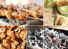 Collage de imágenes de la barbacoa Foto de archivo