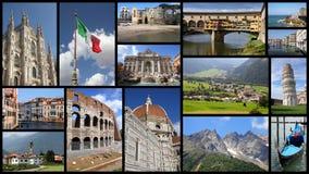 Collage de Italia fotografía de archivo libre de regalías