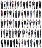 Collage de jeunes hommes d'affaires se tenant dans une rang?e photo libre de droits