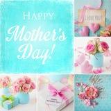 Collage de jour de mères images libres de droits