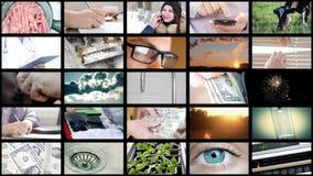 collage de 8K UltraHD de diverso vídeo almacen de metraje de vídeo