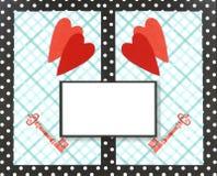 Collage, de kaart van de Valentijnskaart royalty-vrije stock afbeelding