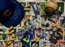 Collage de légendes et d'étoiles de Chicago Cubs photos stock