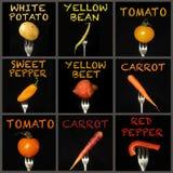 Collage de légumes Photo libre de droits