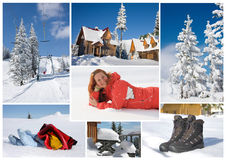Collage de l'hiver Images stock
