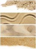 Collage de la arena fotografía de archivo