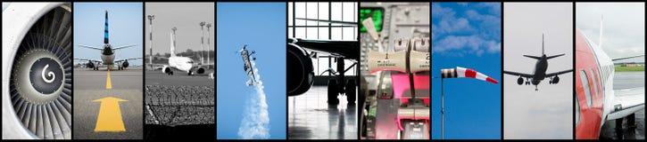 Collage de la aviación fotos de archivo