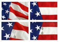 Collage de la bandera americana Foto de archivo libre de regalías