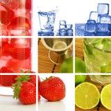 Collage de la bebida Imagen de archivo libre de regalías