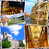 Collage de la belle Italie Photographie stock libre de droits