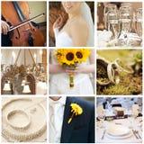 Collage de la boda Imagenes de archivo