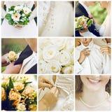 Collage de la boda Foto de archivo