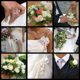 Collage de la boda Fotos de archivo
