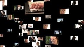 Collage de la cantidad de hombres de negocios almacen de metraje de vídeo