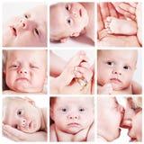 Collage de la cara del bebé Fotos de archivo libres de regalías