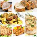 Collage de la carne Fotos de archivo libres de regalías
