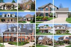 Collage de la casa Foto de archivo