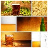 Collage de la cerveza Imagen de archivo libre de regalías