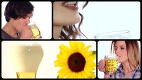 Collage de la cerveza metrajes