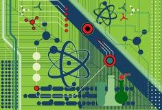 Collage de la ciencia y de la tecnología Imágenes de archivo libres de regalías