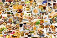 Collage de la cocina del mundo Imagenes de archivo